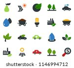 colored vector icon set   leaf... | Shutterstock .eps vector #1146994712