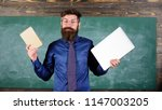 teacher bearded hipster holds... | Shutterstock . vector #1147003205
