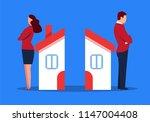 marital relationship breakdown | Shutterstock .eps vector #1147004408