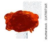 orange brush stroke and texture.... | Shutterstock .eps vector #1147007165