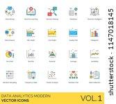 data analytics modern vector... | Shutterstock .eps vector #1147018145