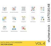 data analytics modern icon set. ... | Shutterstock .eps vector #1147018148