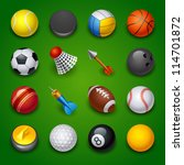 sport icons | Shutterstock .eps vector #114701872