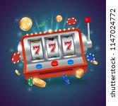 casino slot machine. big win... | Shutterstock .eps vector #1147024772
