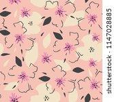 romantic floral pattern. | Shutterstock .eps vector #1147028885