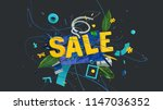 3d rendered sale letters in... | Shutterstock . vector #1147036352