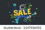 3d rendered sale letters in... | Shutterstock . vector #1147036352