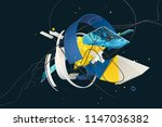 abstract stylish 3d composition ... | Shutterstock . vector #1147036382