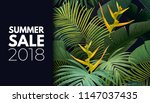 summer vector floral sale... | Shutterstock .eps vector #1147037435