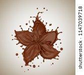 chocolate flower shape  paint...   Shutterstock . vector #1147039718