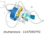 abstract stylish 3d composition ... | Shutterstock . vector #1147040792