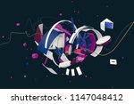 abstract stylish 3d composition ... | Shutterstock . vector #1147048412