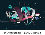abstract stylish 3d composition ... | Shutterstock . vector #1147048415