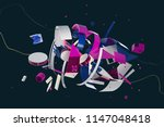 abstract stylish 3d composition ... | Shutterstock . vector #1147048418