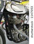 Motor Of Vintage Motorcycle