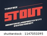 the stout heavy display font... | Shutterstock .eps vector #1147053395