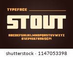 the stout heavy display font... | Shutterstock .eps vector #1147053398