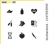 activity icons set with  mat...