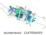 abstract stylish 3d composition ... | Shutterstock . vector #1147056455