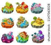 set 3d isometric buildings on...