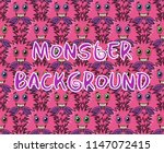 seamless background with fluffy ...   Shutterstock .eps vector #1147072415