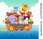 Noah's Ark Cartoon And Cute...