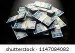 a pile of randomly scattered... | Shutterstock . vector #1147084082