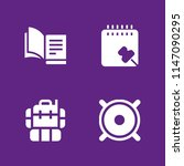 4 education icon set with... | Shutterstock .eps vector #1147090295