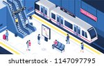 people at subway station. can... | Shutterstock .eps vector #1147097795
