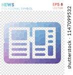 news polygonal symbol ... | Shutterstock .eps vector #1147099532