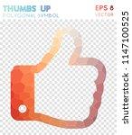 thumbs up polygonal symbol ... | Shutterstock .eps vector #1147100525