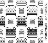 burger icon seamless pattern ... | Shutterstock .eps vector #1147104872