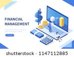 financial management concept.... | Shutterstock .eps vector #1147112885
