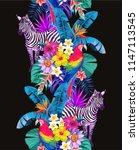 tropical seamless vertical... | Shutterstock .eps vector #1147113545