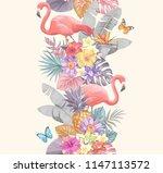 tropical seamless vertical... | Shutterstock .eps vector #1147113572