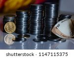 indian currency coines stacked... | Shutterstock . vector #1147115375