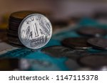 indian currency coines of rs.... | Shutterstock . vector #1147115378