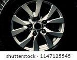 stylish metallic alloy wheel of ... | Shutterstock . vector #1147125545