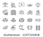 vietnam icon set. included... | Shutterstock .eps vector #1147131818