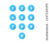 set of 0 9 number icons. vector ... | Shutterstock .eps vector #1147139195