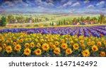 tuscany summer italian... | Shutterstock . vector #1147142492