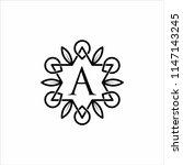women's letter a luxury logo | Shutterstock .eps vector #1147143245