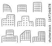 vector set of building | Shutterstock .eps vector #1147146878