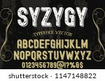 font handcrafted typeface... | Shutterstock .eps vector #1147148822