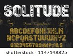 classic vintage decorative font ... | Shutterstock .eps vector #1147148825