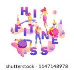hi fitness creative...   Shutterstock .eps vector #1147148978