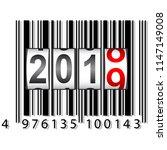 2019 new year counter  barcode...   Shutterstock . vector #1147149008