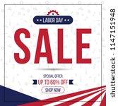 labor day banner template | Shutterstock .eps vector #1147151948
