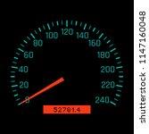 car speedometer dial. vector... | Shutterstock .eps vector #1147160048