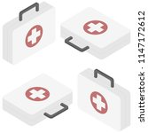 vector isometric first aid kit... | Shutterstock .eps vector #1147172612